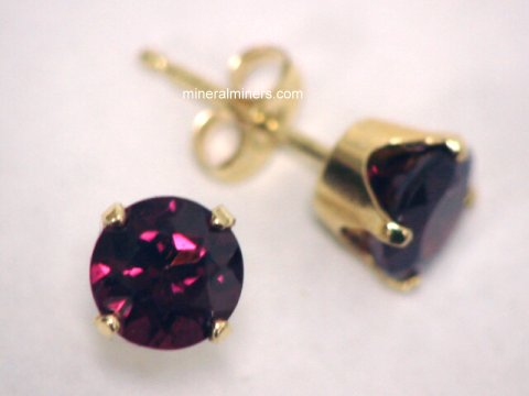 Rhodolite Garnet Earrings Jpg