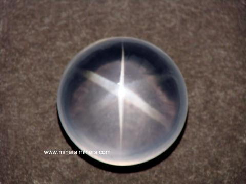 Quartz Crystal Gemstones: large faceted gems of natural rock crystal quartz & star quartz gemstones