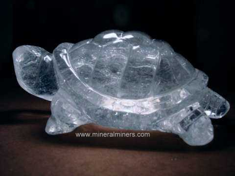 Mineral Carvings & Sculptures: Natural Rock Crystal Quartz Animal Carvings