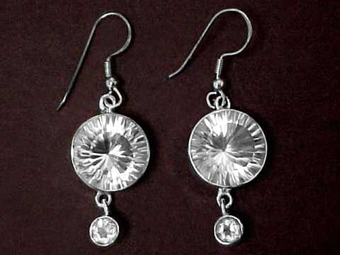 Rock Crystal Quartz Earrings