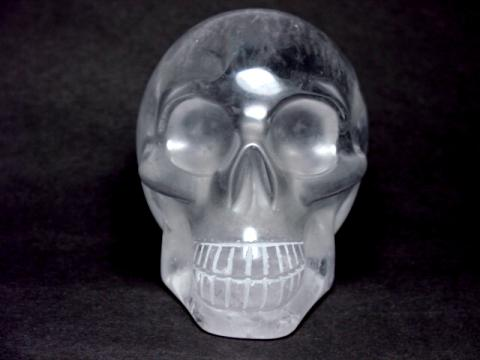 Quartz Crystal Skulls: hand carved natural rock crystal quartz skulls