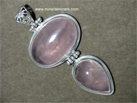 Rose Quartz Jewelry: bracelets, rings, necklaces & pendants