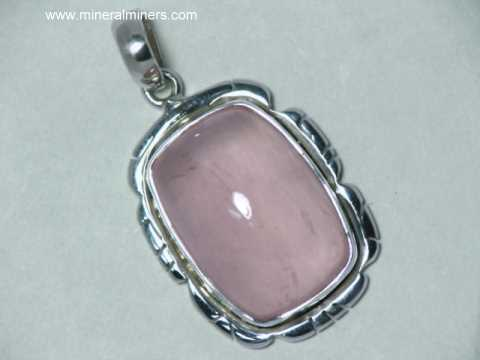 jewelry quartz silver gemstone pink rose handmade genuine necklace buy pendant