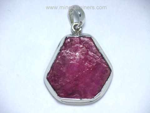 Ruby Pendant: Ruby Crystal Pendants