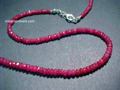 Ruby Necklaces Earrings