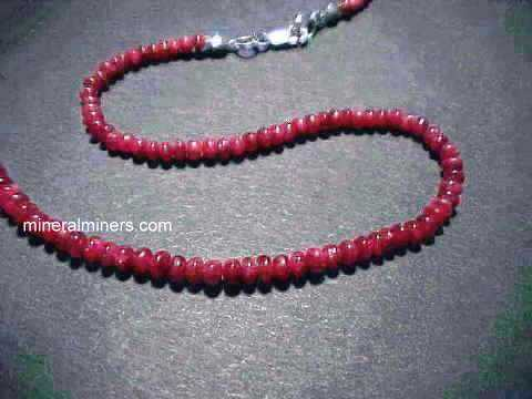 Ruby necklaces genuine ruby necklaces natural ruby necklaces in 14k gold and ruby bead necklaces mozeypictures Gallery