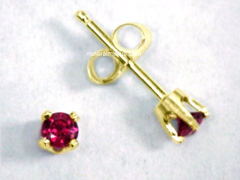 item natural earrings jewelry genuine stm ruby gold