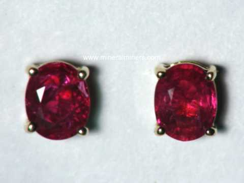 item natural jewelry ruby genuine stm gold earrings