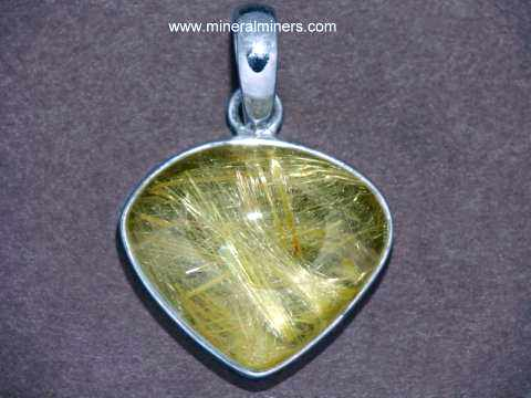 Gold Rutile in Quartz Jewelry