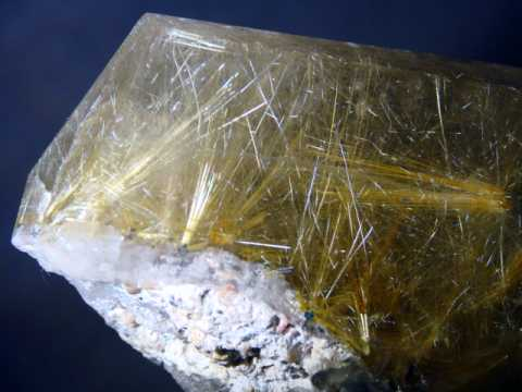Rutilated Quartz Crystal Mineral Specimens