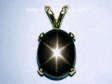 Black Star Sapphire Jewelry: Natural Black Star Sapphire Pendants, Rings and Necklaces