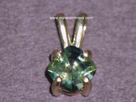 Green sapphire jewelry and earrings natural green sapphire pendant in 14k gold item sgrj120 aloadofball Image collections