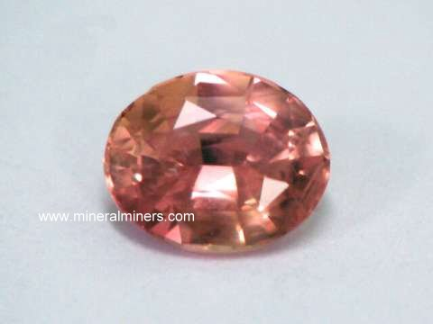 Padparadscha Sapphire Gemstone: natural color genuine padparadscha gemstones!
