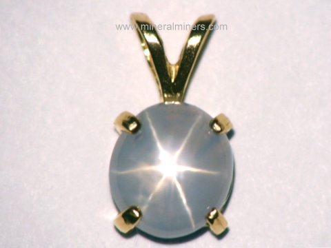 Star Sapphire Jewelry: Natural Star Sapphire Pendants, Necklaces and Rings