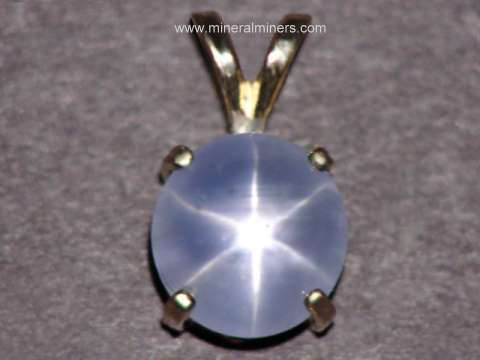 Star Sapphire Jewelry: Natural Star Sapphire Necklace