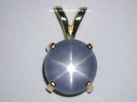 Star Sapphire Jewelry: Natural Star Sapphire Pendant