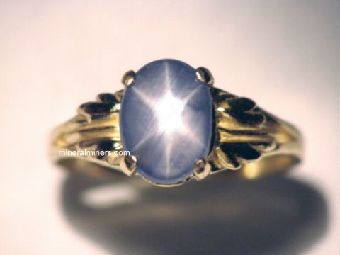 Star Sapphire Jewelry: Natural Star Sapphire Ring