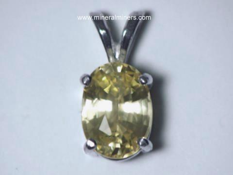 Yellow Sapphire Jewelry: Natural Yellow Sapphire Pendants, Rings, Necklaces and Yellow Sapphire Earrings