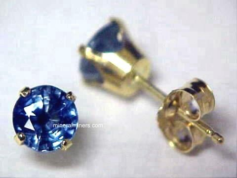Blue Sapphire Earrings: Genuine Blue Sapphire Earrings