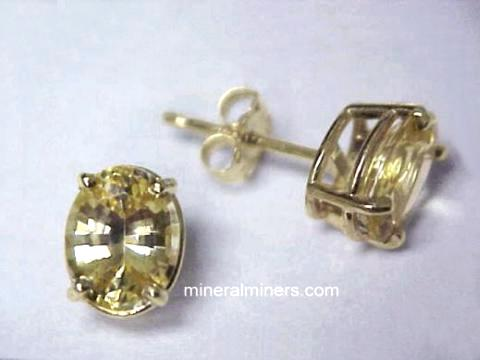 Golden Sapphire Earrings