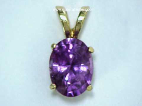Purple Sapphire Jewelry: natural purple sapphire pendants, necklaces and rings