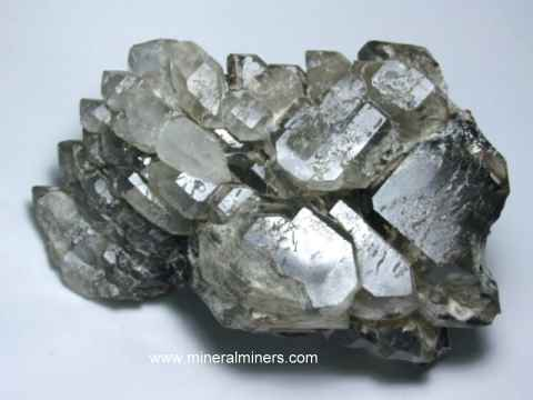 Elestial Quartz Crystals: natural jacare quartz crystals from Brazil
