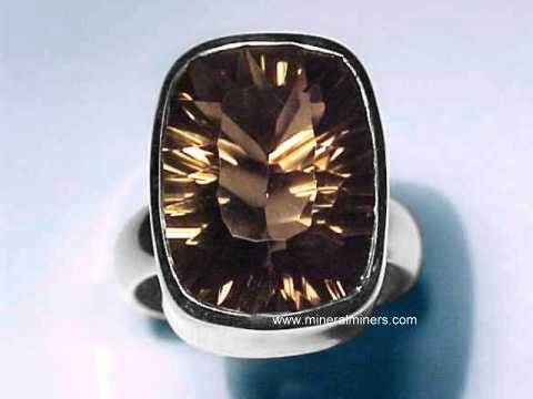 Smoky Quartz Crystal Rings: natural smoky quartz ring