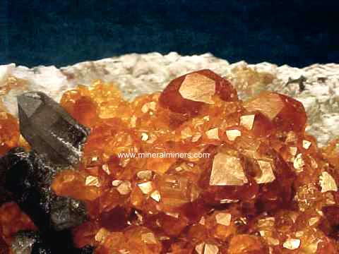 Mandarin Spessartite Garnet Crystals and Mineral Specimens