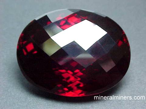 Large Red Spessartite Garnet Gemstones