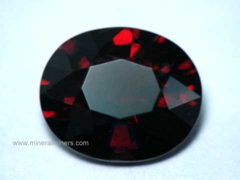 Red Spessartite Garnet Gemstones