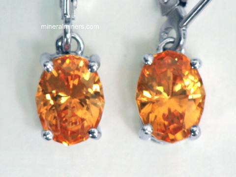 Mandarin Garnet Earrings