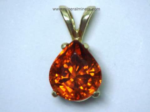 Red Spessartite Garnet Jewelry