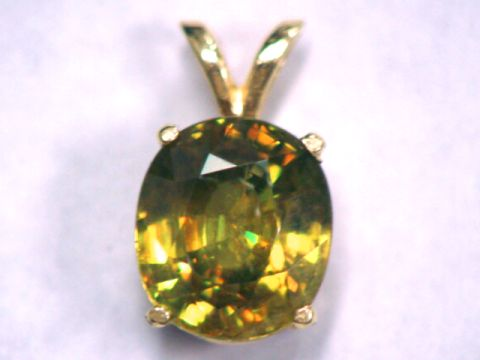 Sphene Gemstone Pendant