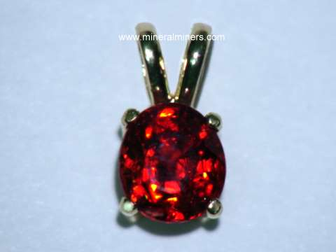 Spinel Jewelry: natural red spinel jewelry