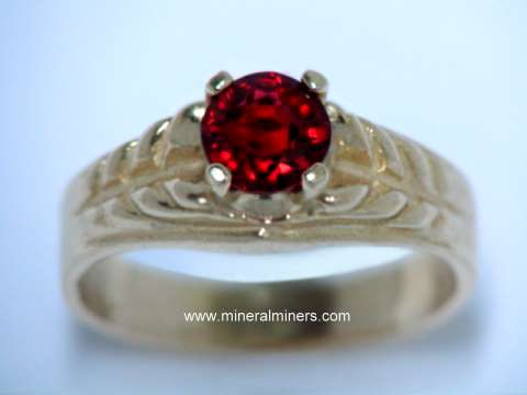 Red Spinel Rings