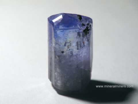 Tanzanite Facet Rough: gem grade tanzanite crystal