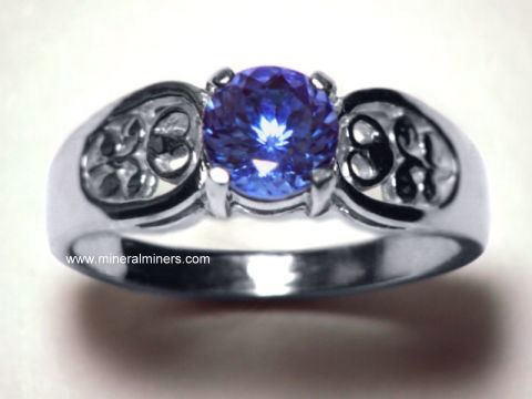 Tanzanite Ring: 14k Gold Tanzanite Ring