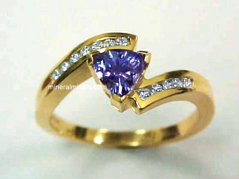 18k Gold Tanzanite Ring With Diamonds Item Tanj195a Jewelry