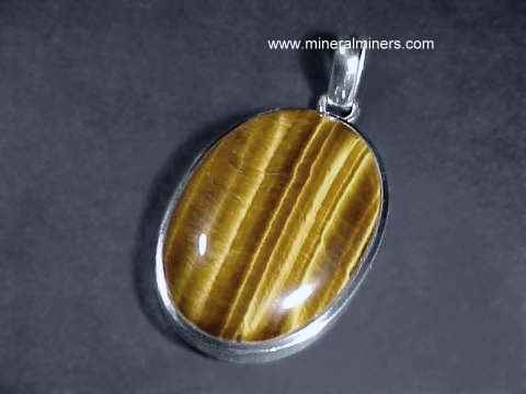 Tigers eye jewelry large tigers eye sterling silver pendant item tigj116a mozeypictures Images