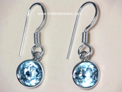 Click On Any Blue Topaz Earring Image Below To Enlarge It