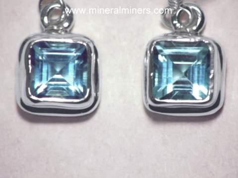 Sky Blue Topaz Earrings In Sterling Silver Item