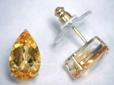 Natural Color Imperial Topaz Earrings In 14k Gold Item Topj256 Jewelry