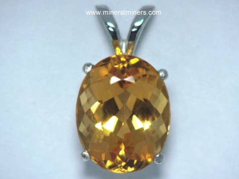 Imperial topaz jewelry golden topaz pendant necklace earrings golden imperial topaz pendant in 14k white gold item topj314topaz jewelry aloadofball Image collections