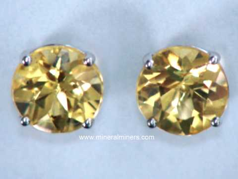 Natural Golden Topaz Earrings Item Topj327 Jewelry