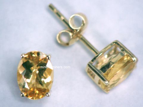 Natural Golden Topaz Earrings