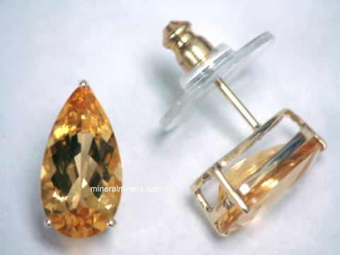 Natural Imperial Topaz Earrings