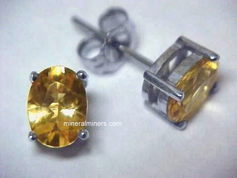 Topaz Earrings (natural color golden topaz earrings)