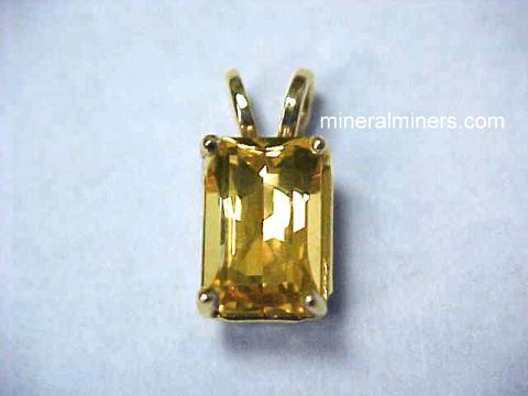 Golden Topaz Jewelry and Golden Topaz Pendants