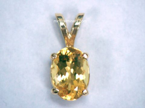 Natural Golden Topaz Jewelry