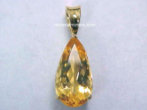 Topaz Necklaces - Golden Topaz Necklaces